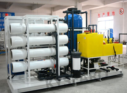 40 TPD seawater reverse osmosis plant