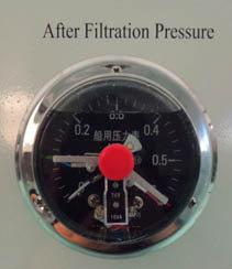 after filtration pressure
