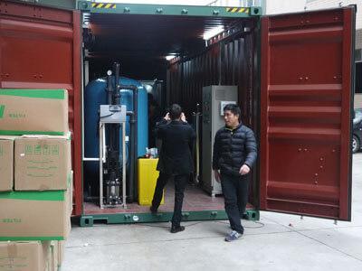Containerized desalination plants